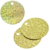 Sequins Hologram 40mm 4mm Hole Round Yellow